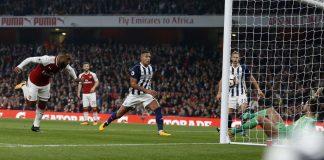 Este lunes Arsenal venció 2-0 a West Bromwich Albión por la sexta jornada de la Premier League, la gran figura fue el francés Lacazette quien marcó los dos goles de la victoria.