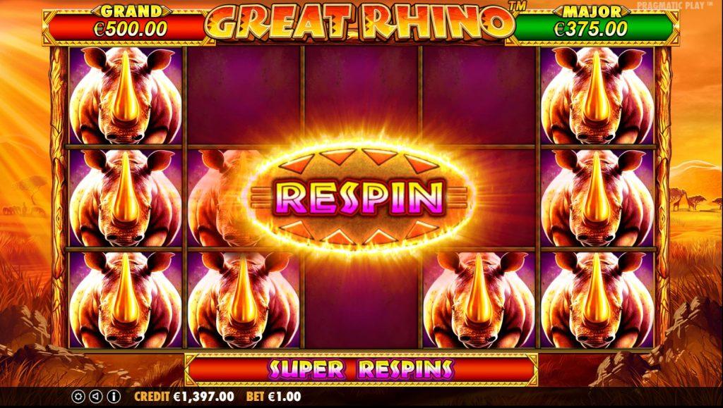 free spin great rhino