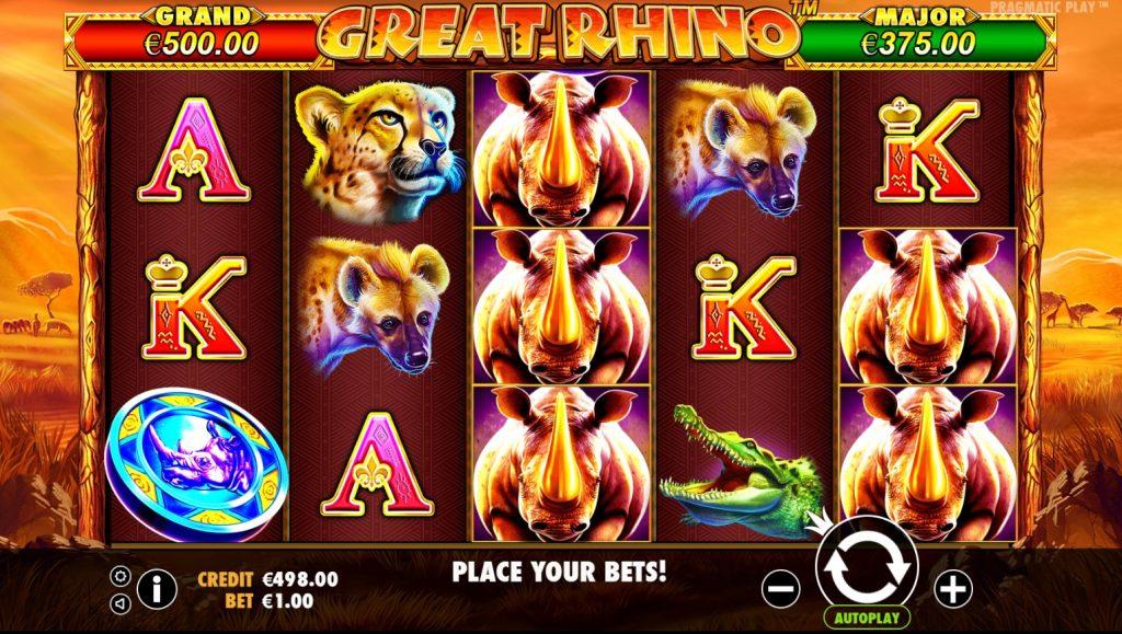 Juegos de Casino Great Rhino