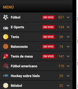Deportes para apostar en apuestas en vivo